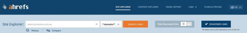 ahrefs-domain-search