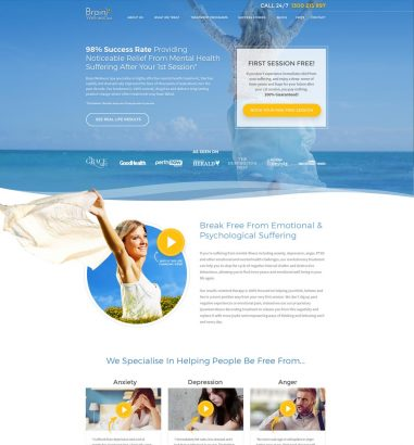 Brain Wellness Spa Web Design