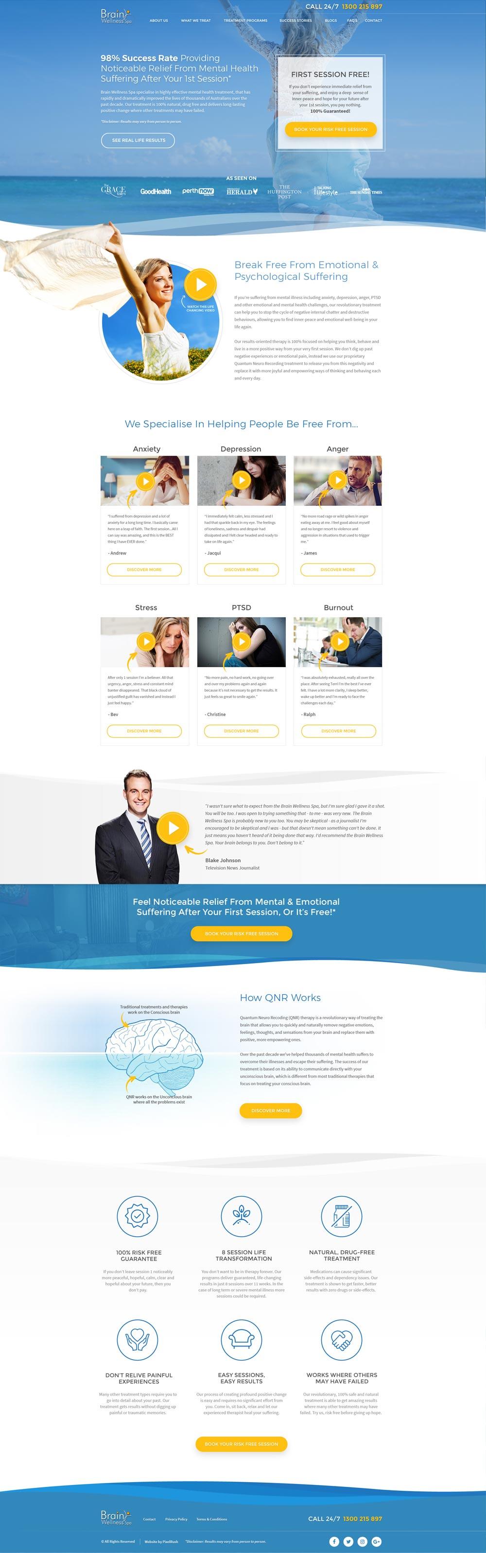 Brain Wellness Spa Web Design