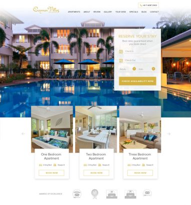 Cayman Villas Hotel Web Design