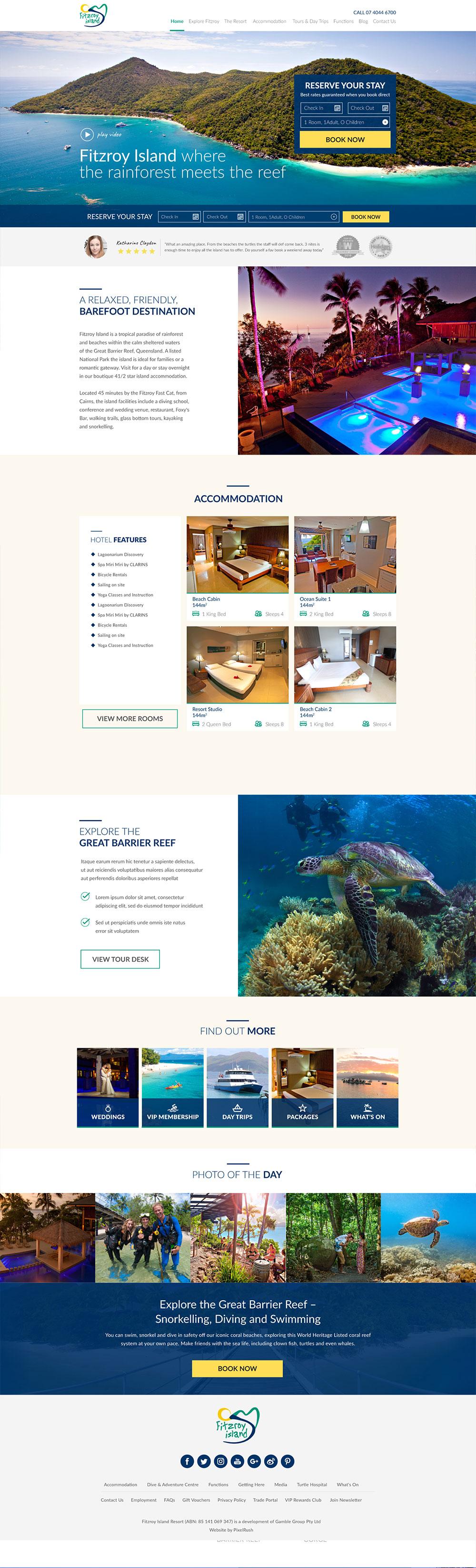 Fitzroy Island Hotel Web Design