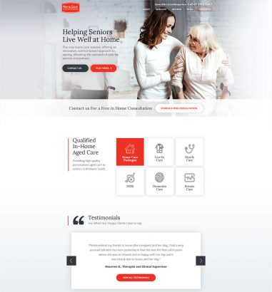 home-care-assistance-web-design