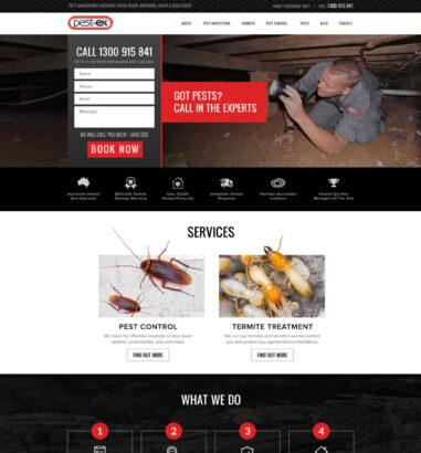 Pest Ex Landing Page Design